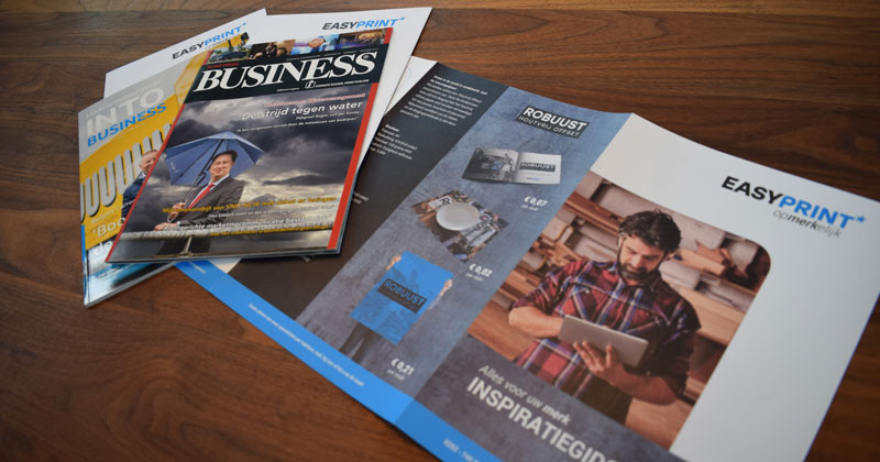 De Inspiratiefolder van EasyPrint in Into Business en Rijnstreek Business