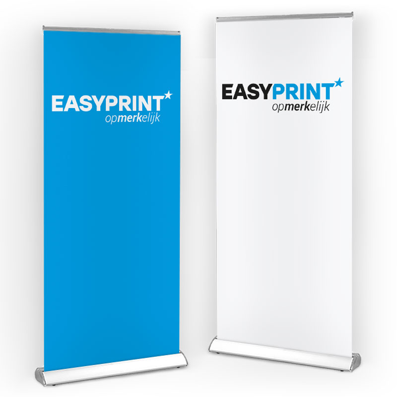 bedrukte roll-up banners met lamp